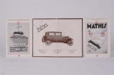 Mathis - Vintage Motor Vehicles and Automobilia